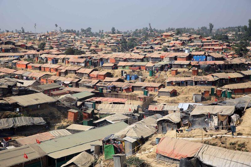 Kutupalong refugee camp - The largest Rohingya refugee camp in Ukhia, Cox's Bazar.