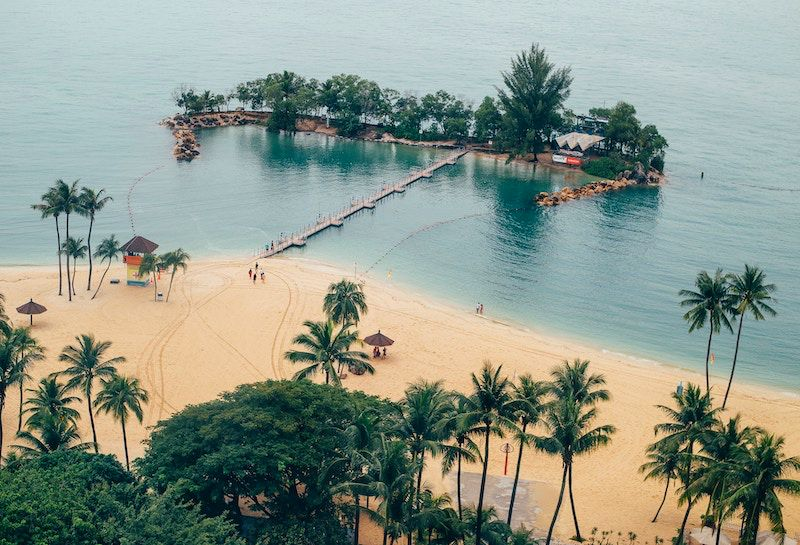 Sentosa Beach Singapore