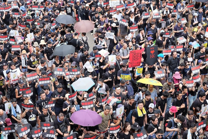 Hong Kong Protests. Source- Wikimedia Commons