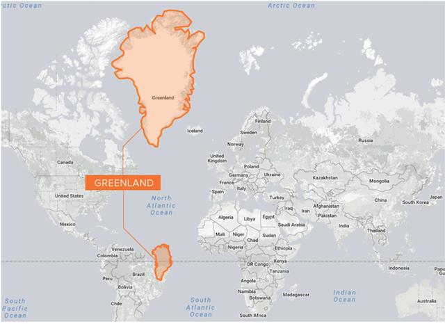 Greenland World Map